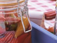 Pickled Pepperoncini and Bell Peppers recipe