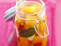 Pickled Pumpkin with Garlic and Shallots recipe
