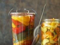 Pickled Zucchini and Peppers recipe