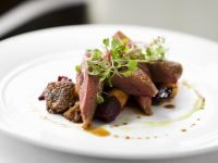 Pigeon Breasts with Marinated Beets recipe