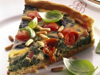 Pignoli and Spinach Tart recipe