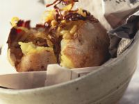 Pignoli-filled Baked Potatoes recipe
