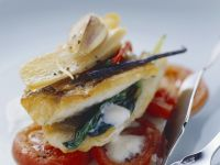 Pike Fillets on Tomatoes and Buttermilk Foam recipe