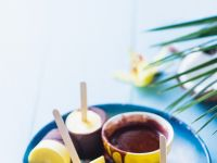 Pineapple and Coconut Popsicles with Chocolate recipe