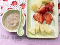 Pineapple and Strawberry Plate with Nut Dip