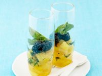 Pineapple Compote with Berries recipe
