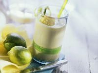 Pineapple Kefir Drink with Mango Ice Cream recipe