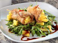 Pineapple Pork Rolls with Arugula Salad