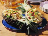 Pineapple with Celery and Red Bean Stuffing recipe