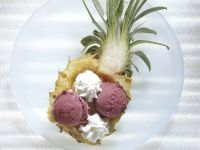 Pineapple with Ice Cream recipe