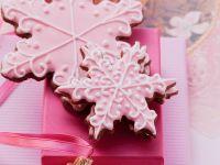 Pink Snowflake Cookies recipe