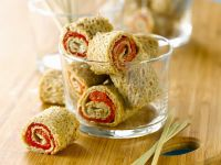 Piquant Buckwheat Roulades recipe