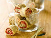 Piquant Buckwheat Roulades recipe