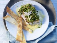 Pistachio and Lemongrass Crusted Red Snapper recipe