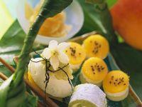 Pistachio Marzipan Sushi with Cream Cheese and Mango recipe