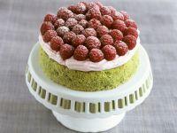 Pistachio Raspberry Cake recipe