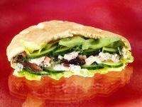 Pita Bread with Ham Salad recipe