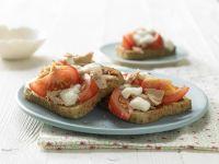 Pizza Toasts with Tuna recipe