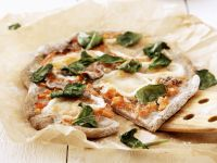 Pizza with Anchovies and Basil recipe