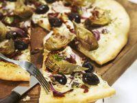 Pizza with Artichoke Hearts recipe