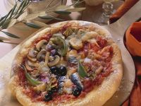 Pizza with Artichokes, Ham and Anchovies recipe