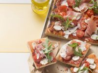 Pizza with Cherry Tomatoes and Prosciutto recipe