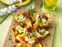 Pizza with Colorful Vegetables recipe