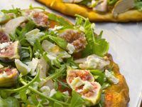 Pizza with Foie Gras, Figs and Arugula recipe