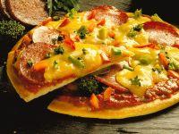 Pizza with Salami and Broccoli recipe