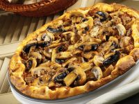 Pizza with Sausage and Mushrooms recipe