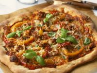 Pizza with Sausage and Pepper recipe