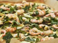 Seafood Flatbread with Parsley recipe