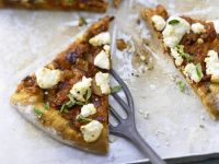 Pizza with Spicy Eggplant & Goat Cheese recipe