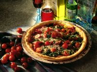 Pizza with Spinach and Bresaola recipe