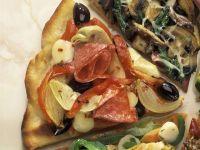 Pizzas with Artichokes and Salami recipe