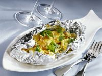 Plaice Fillet Packets with Fried Onions recipe