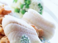 Plaice Fillets with Crab Meat and Herb Sauce recipe