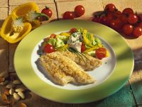 Plaice Fillets with Salad