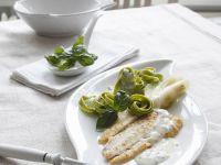 Plaice in Cream Sauce with Spinach Pasta recipe