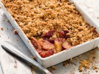 Plum and Nut Crumble recipe