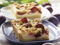 Plum Cheesecake with Streusel Topping recipe