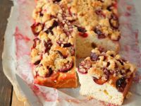 Plum Cinnamon Crumble Cake recipe