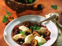 Plum Compote with Semolina Dumplings recipe