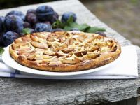 Plum Tart with Almonds recipe