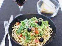 Plum Tomato and Broccoli with Spaghetti recipe