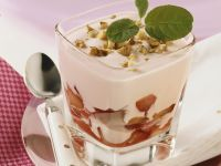 Plum Yogurt with Walnuts recipe