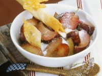 Plums with Phyllo Pastries recipe