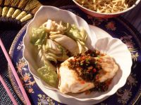 Poached Cod in Spicy Sauce with Chinese Cabbage recipe