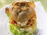 Poached Egg, Bacon and Lettuce Sandwiches recipe