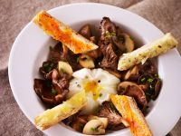 Poached Egg with Mushrooms recipe